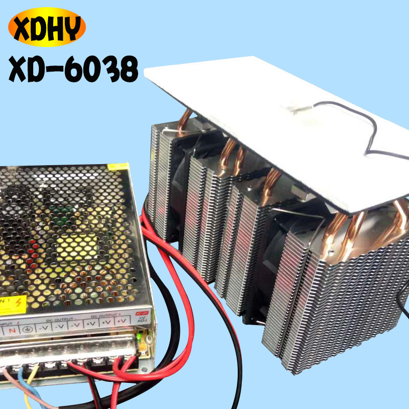 DIY small refrigerator semiconductor refrigeration board high power radiator 12V electronic cooler Y цена