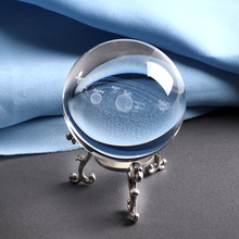 6 см лазерной гравировкой на солнечных батареях Системы мяч 3D Миниатюрная модель планет Сфера Стекло Глобус орнамент Декор для дома подарок для астрофиле