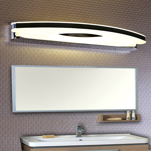 hot modern led wall mirror lights for bathroom washroom dress room stainless steel led mirror lamp
