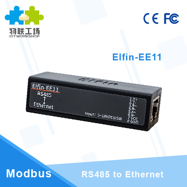 Serial Port RS485 to Ethernet Device Server Module Support Elfin EE11 TCP IP Telnet Modbus TCP Protocol in Computer Cables Connectors from Computer Office