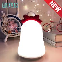 Night Light For Childrens Room Bedroom 3D Christmas Bell Nightlight Baby Lamp Battery Powered Holiday Gadgets Gift
