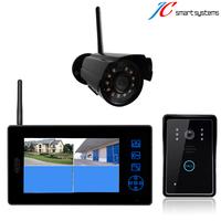 Warehouse Office Villa Smart Door Bell Video Door Phone With Wireless Camera For Access Control Security