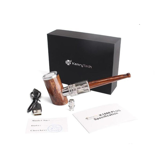 Kamry K1000 Plus E Pijp E-pijp kit Vape Elektronische Sigaret 30 w Roken Pen 4.0 ml tank doos mod 1100 mah met 5 extra coils