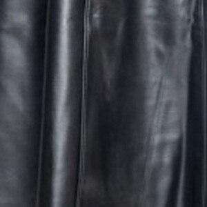 Image 5 - الخريف الشتاء الرجال طويلة الجلود خندق سترة 2019 مقاوم للماء الرجال القوطية معطف جلد طويل فو الرجال العلامة التجارية جلدية معاطف S 5XL