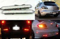 לmazda3 Axela נקה עדשת פגוש רפלקטור LED גיבוי אור בלם זנב Mazdaspeed3 04-09
