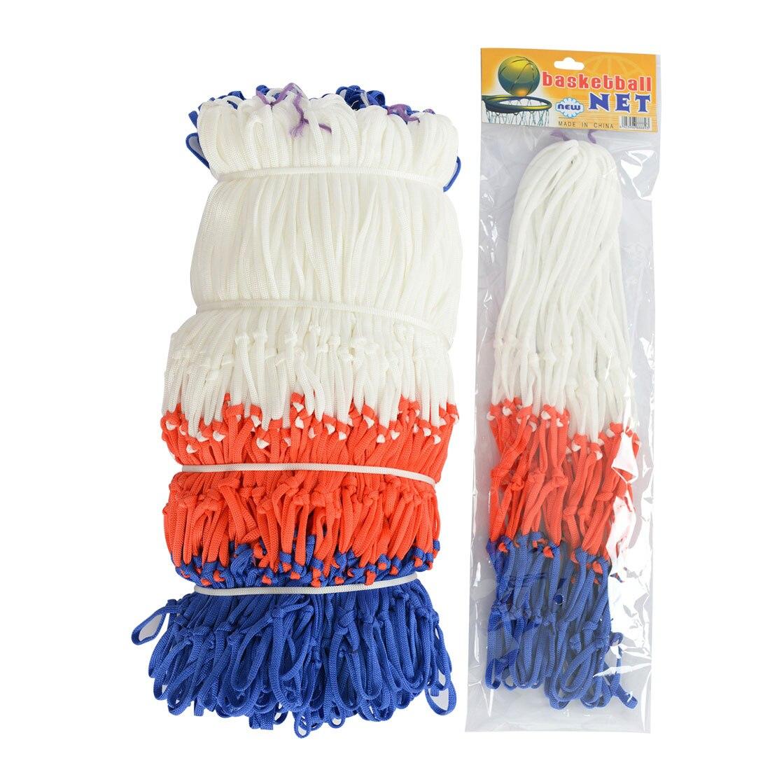Standard Nylon Thread Sports Basketball Hoop Mesh Net Backboard Rim Ball Pump 12 Loops White Red Blue 3 Colors Net