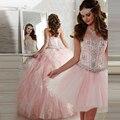 Incrível Rosa vestido de Baile Duas Peças Vestidos Quinceanera Vestidos De 15 anos Querida Destacável Saia vestido de Baile Vestidos de Festa 2016