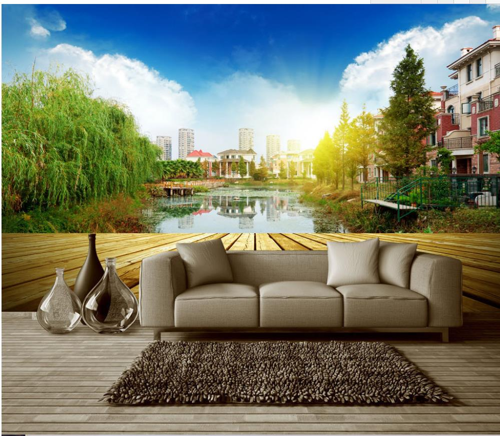 online get cheap woods wall mural aliexpress com alibaba group european style top quality photo wall murals wallpaper woods landscape painting background wall 3d stereoscopic wallpaper