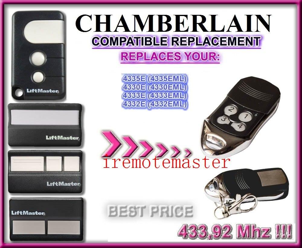 2pcs Chamberlain Liftmaster 4335E 4330E 4332E compatible Remote Liftmaster Garage Opener