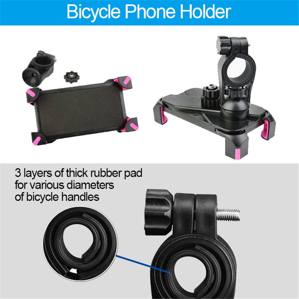 Adjustable Bicycle Phone Holder Made Of PVC Material For Universal Mobile Cell Phone 6