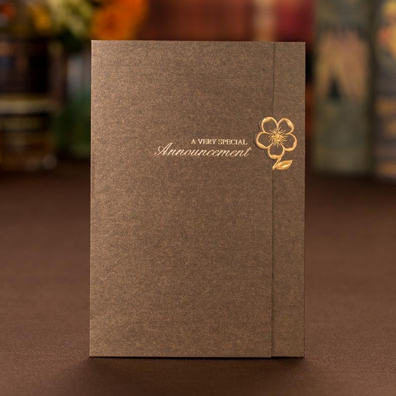 50 Unids Aniversario Vintage Boda Invitaciones Tarjeta