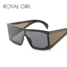 ROYAL GIRL Luxury Square Sunglasses Women Oversize Shield Su