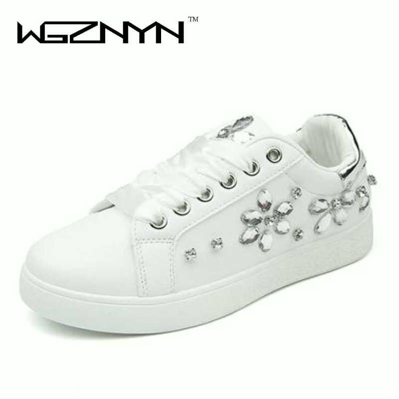 Blanc Femme Chaussures Sneakers Noir Strass 3 1 Talon Dames Rose 2 W065 Doux Sport Femmes De Marque Plat 2018 Mode ZY577