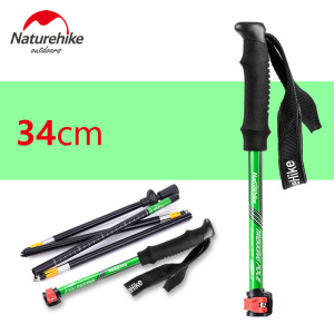 34-135 cm Foldable 5 sections cane outer lock firm walking stick rod ultra light aluminum alloy crutch outdoor climbing stick