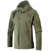 Winter Warm Outerwear Casual Hoodie Coat Jacket Military Tactical Fleece Jacket Men Camouflage Sportswear Clothes Windbreaker