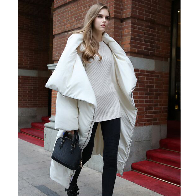 High Quality European And American Style 2019 Winter Jacket Women White Duck Down Parka X-Long Thick Warm Loose Female Jacket