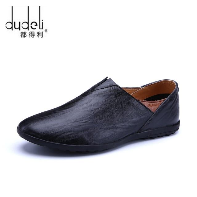 76972a7f33d3b DUDELI cuero genuino hombres zapatos casuales marca de lujo 2018 hombres italianos  mocasines zapatos de conducción