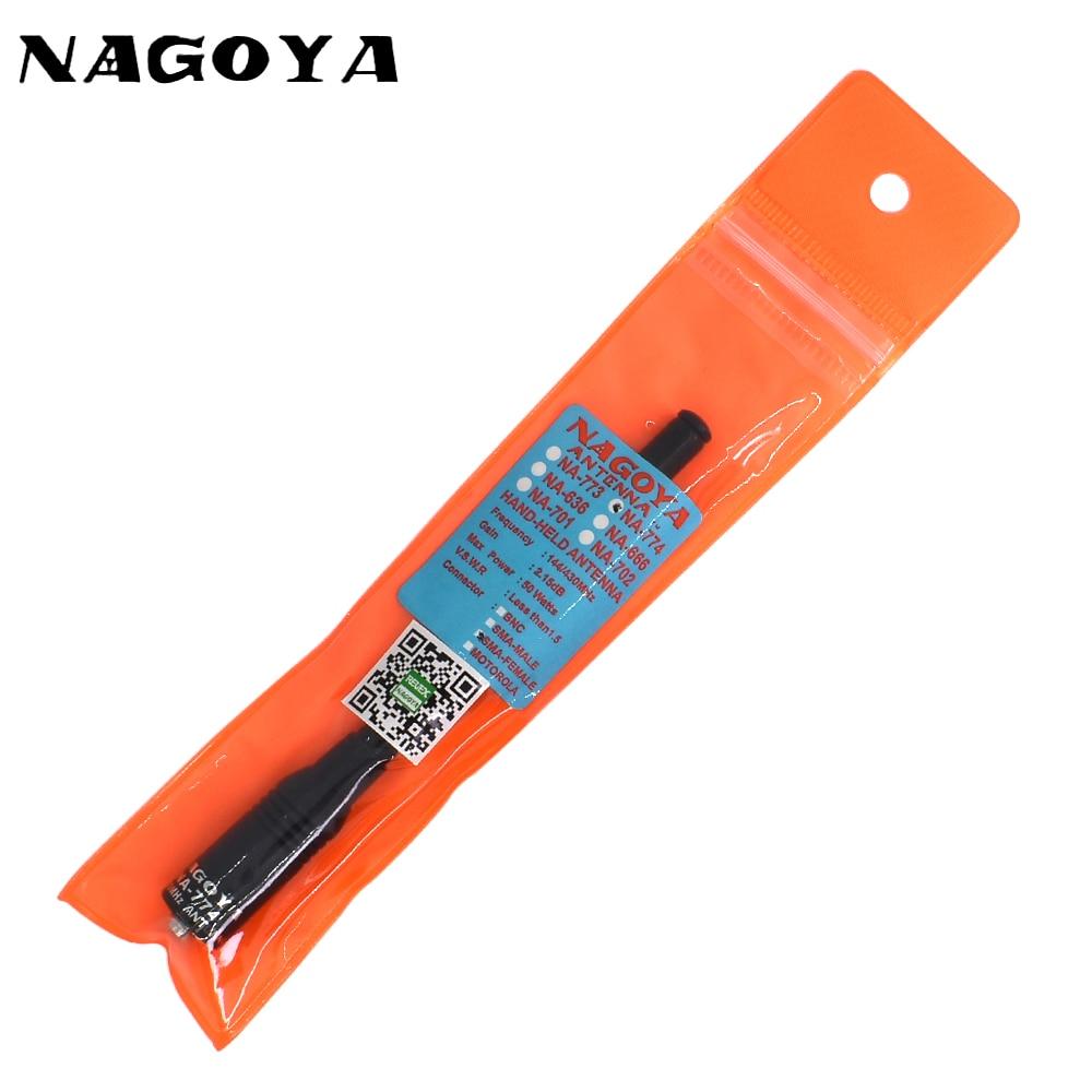 NAGOYA NA-774 SMA-F Female VHF UHF 144/430MHz Dual Band Antenna Walkie Talkie Two Way Radi For Baofeng UV 5R UV-5R BF-888S