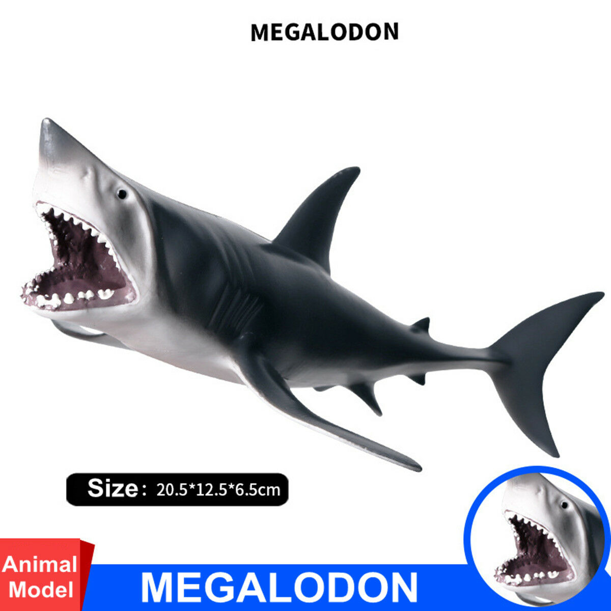 Rare Megalodon Figure Ancient Shark Whale Wild Animal Model Adult Kids Collection Science Education Toys Gift Home Decor