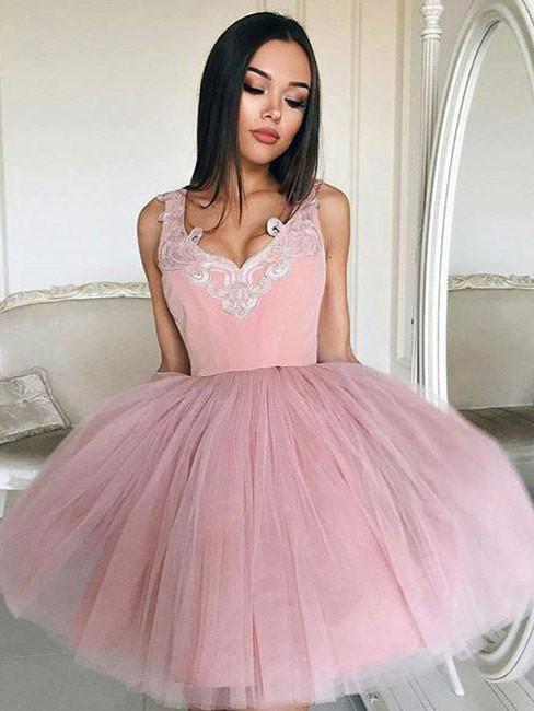 Nuevo vestido de las mujeres 2018 sexy Deep V Masajeadores de cuello velo Encaje partido Vestidos elegante Rosa mini vestido de verano corto de malla lindo bola vestidos