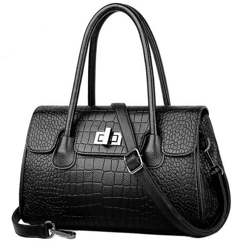 100% Made of Genuine Leather Womens Bag Shoulder Cross Body Bags for Youth Lady Totes Alligator Handbags Designer Luxury Brand100% Made of Genuine Leather Womens Bag Shoulder Cross Body Bags for Youth Lady Totes Alligator Handbags Designer Luxury Brand