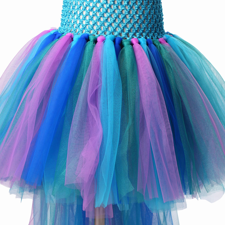 Peacock Tutu Dress For Girls Pageant Birthday Party Ball Gown Baby Girls Peacock Vestidos Children Purim Clothes Photo Props (6)
