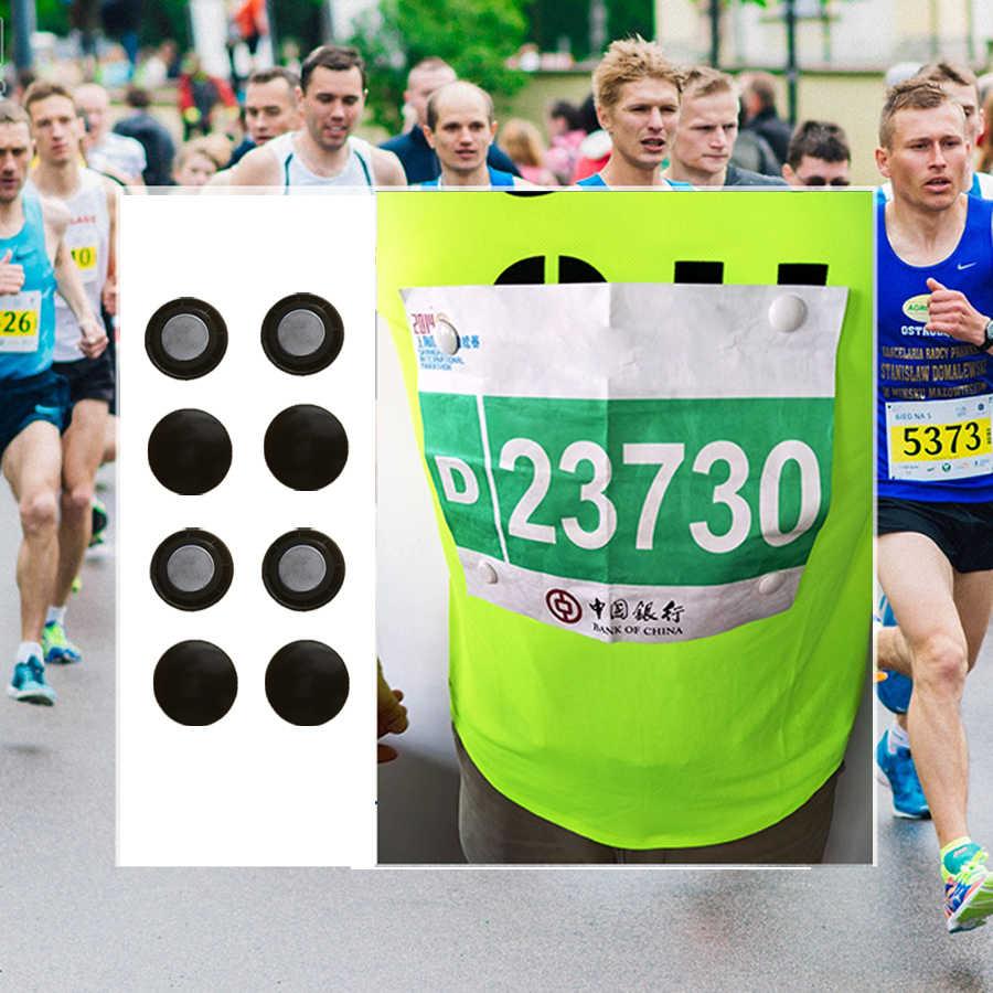 Maraton yarış numarası manyetik yarış önlüğü tutucular koşu sabitleme klipsleri numarası kemer kumaş toka çanta triatlon çalışma Ccycling aksesuarları