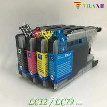 Vilaxh LC1280 LC71 LC73 Compatible for Brother LC79 Ink Cartridge MFC-J430W MFC-J825DW MFC-J835DW DCP-J525N DCP-J540N Printer refillable ink cartridges for brother lc71 lc75 lc79 lc450 mfc j435w mfc j430w