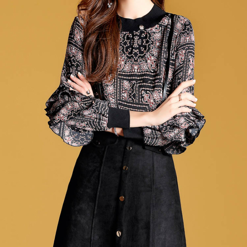 Photo Patchwork Robe Style S Papillon En Plus Manches Femmes Color Robes Causalité Vintage Taille A Imprimer Europe ligne Cerf Cuir xxl De wRY8f