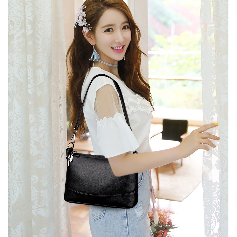 Image 3 - 2019 Women Messenger Bags Small Crossbody Bags For Women Leather Shoulder Bag Female Handbags High Quality Vintage Shell Bag NewTop-Handle Bags   -