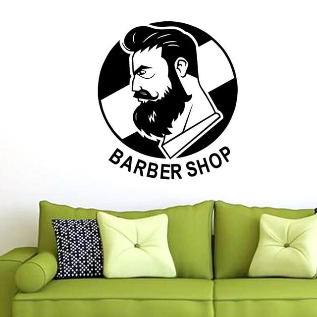 Dctal man barber shop sticker name chop bread decal haircut posters vinyl wall art decals decor
