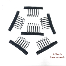20pcs hair clips in human hair extension and  hair clip for wigs small wire spring comb for wig/hair weft