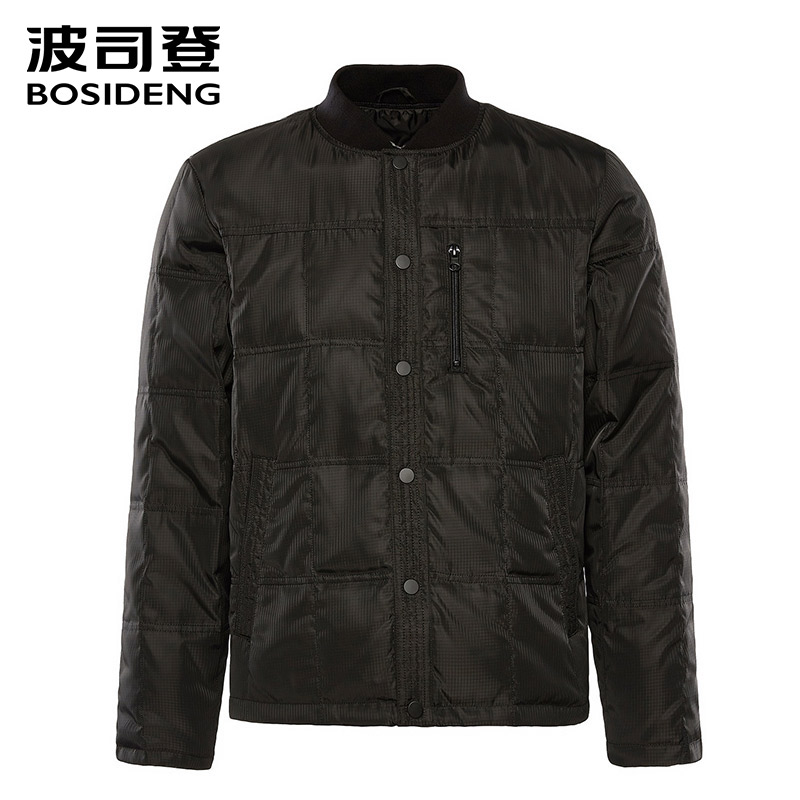 BOSIDENG  New Down Jacket For Men Down Coat 90% Duck Down Outwear Warm Ultra Light Plus Size Covered Button B80130009