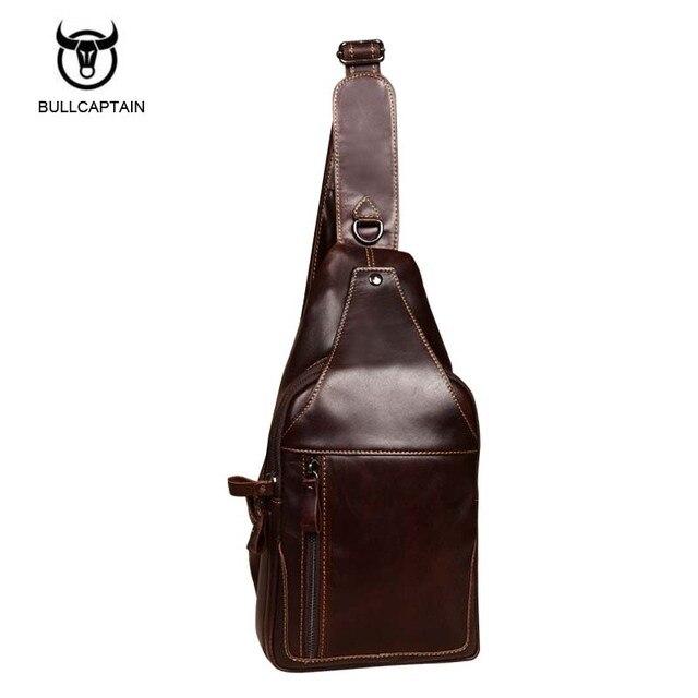 7ee693c4751f Bullcaptain 2017 Fashion Genuine Leather Crossbody Bags men casual  messenger bag Small Brand Designer Male Shoulder