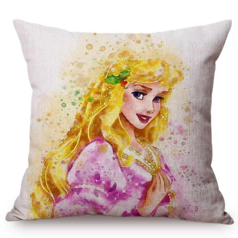 Sensational 2018 New Fairy Tale Snow White Princess Cushion Cover Long Hair Girl Ariel Rapunzel Home Decoration Chair Sofa Throw Pillow Case Machost Co Dining Chair Design Ideas Machostcouk