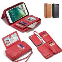 Mobile Phone Wallet For Iphone 6 6s 7 8 Plus X Handbag Big Capacity Money Card
