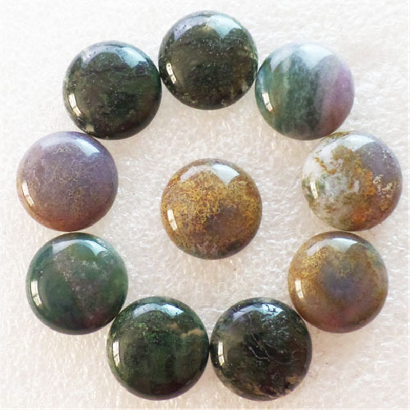 (10 pieces/lot) Wholesale Natural Indian Agates Round CAB Cabochon 16x5mm Free Shipping Fashion Jewelry J177