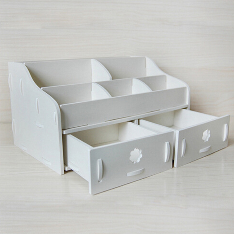 Waterproof Wood Storage Box: Makeup Organizer Simple Waterproof Storage Box European