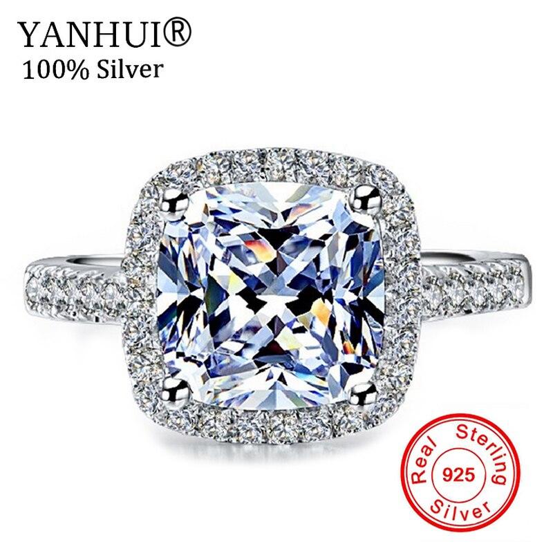 9cac015420fa Boda Anillos para las mujeres plata esterlina s925 Joyería fina Topacio Rosa  cuadrado anillo de lujo