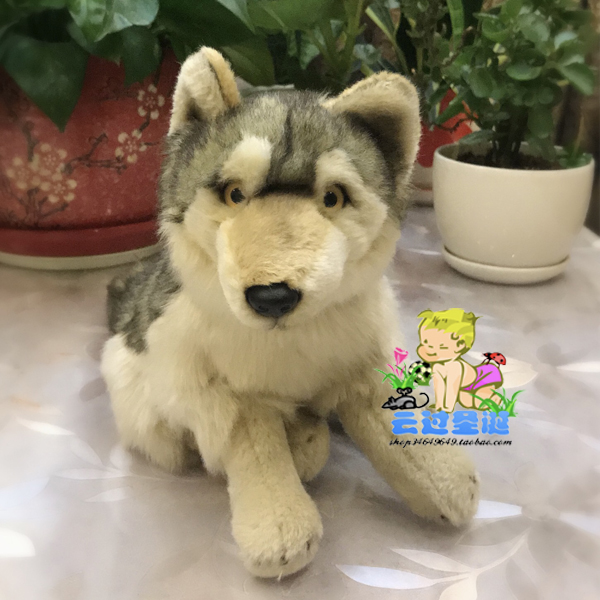 High Quality Plush Stuffed Doll Toy  Simulation Wildlife Gray Wolf  Gift Toys Children Pillow couple frog plush toy frog prince doll toy doll wedding gift ideas children stuffed toy