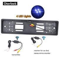 Kablosuz araç arka görüş kamerası ab plaka çerçevesi ters kamera LED gece görüş parktronik park araba kamera monitör|Araç Kamerası|Otomobiller ve Motosikletler -