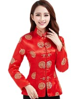 Free shipping Dragon Embroidery Traditional Clothing Long Sleeve Chinese Traditional Top For women 2 Style