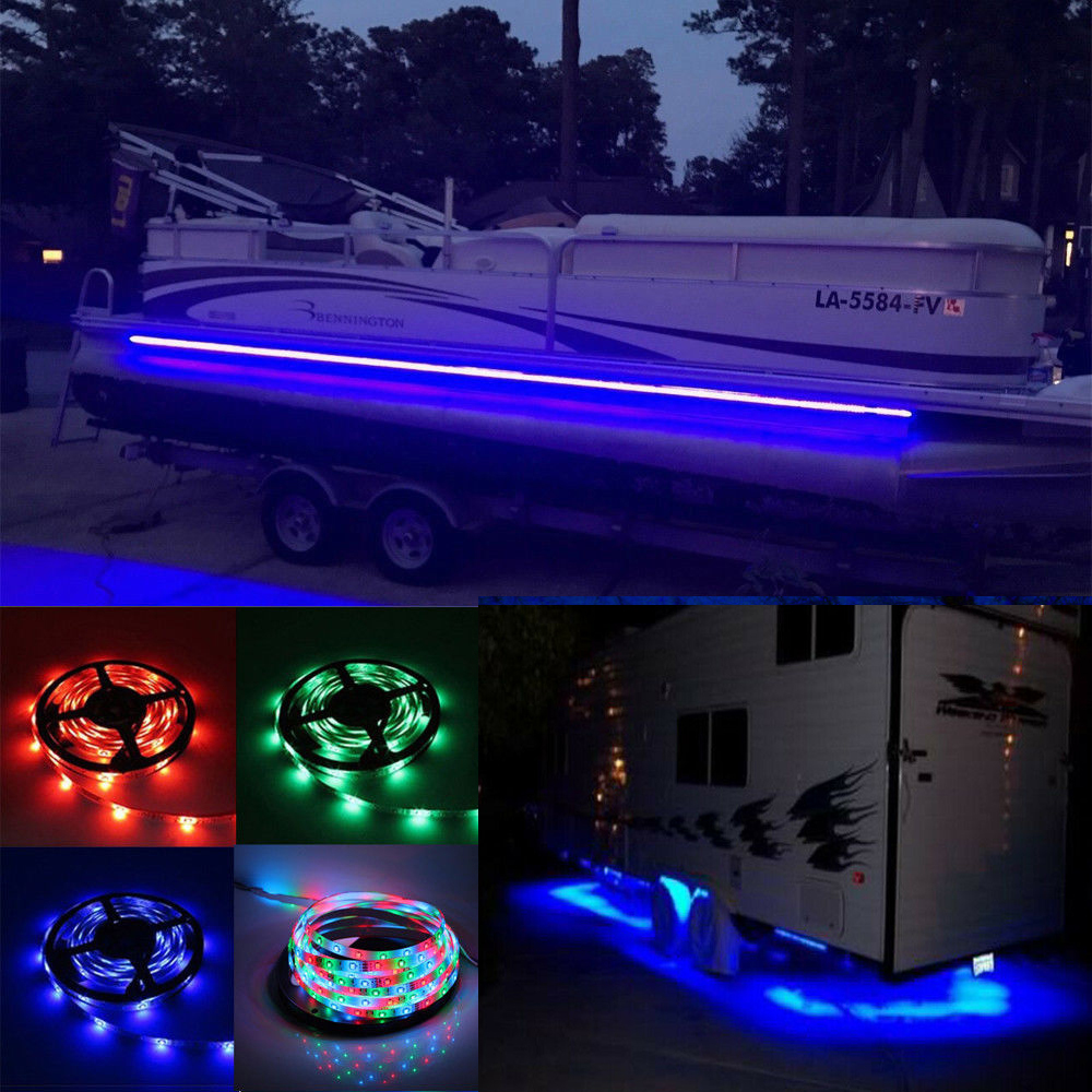 Us 19 99 Rv Led Camper Awning Boat Light Set W Ir Remote Rgb 16ft 3528 Waterproof 16 5ft 300leds In Strips From Lights Lighting On Aliexpress