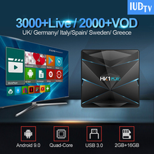 IUDTV IPTV Subscription Sweden Spain Italy IP TV HK1 Play Android 9.0 Smart TV Box USB3.0 2G 16G India Greek Germany UK IPTV Box x96 europe sweden spain iptv box android s905x 2g 16g hd iptv iudtv 1 year germany spain italy greek uk iptv nordic 4k ip tv