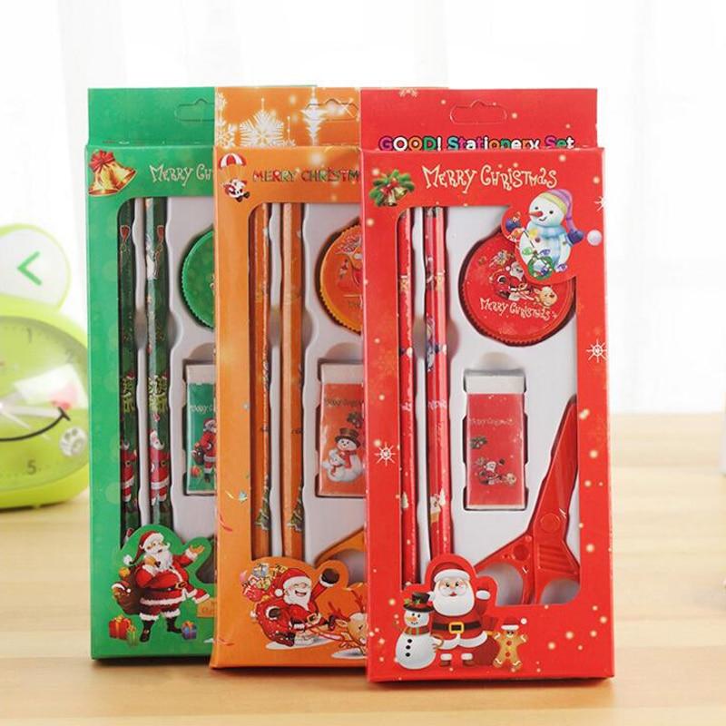 3 Sets Lot Christmas Stationery Set Santa Claus Funny Gift
