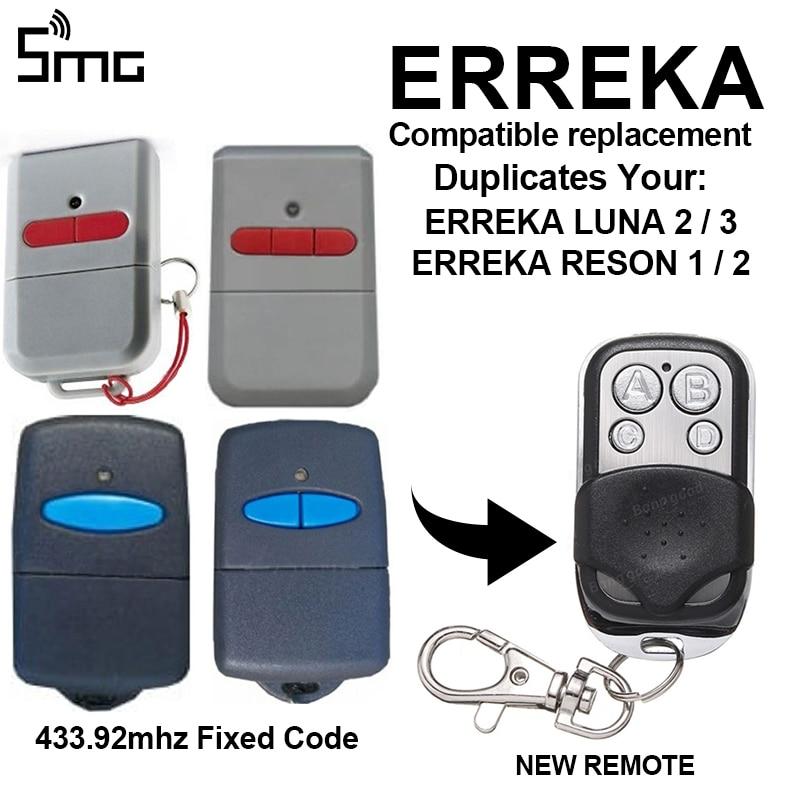 ERREKA LUNA2 LUNA3 ERREKA RESON1 RESON2 Cloning Remote Control Copy Duplicator For Garage Gate Door Fixed Code 433.92mhz
