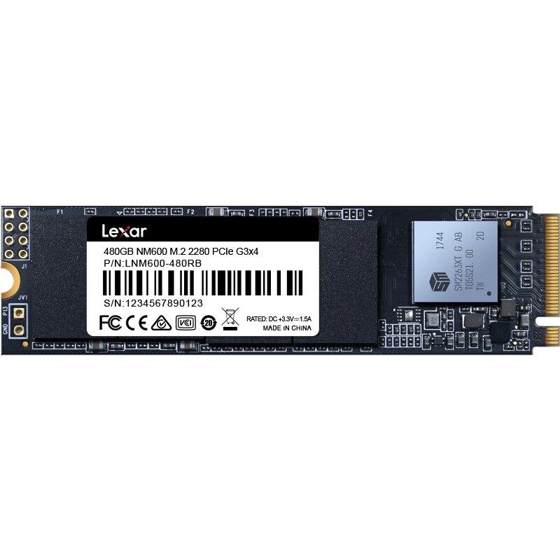 Lexar NM600 3D NAND SSD 480GB M 2 2280 NVMe PCIe Gen3x4 Internal Solid State Drive