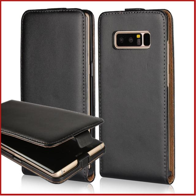 promo code a4491 96ba4 Clamshell phone case for Samsung Galaxy Note 8 Note8 pu leather case  business holster Magnetic adsorption flip case coque fundas-in Flip Cases  from ...