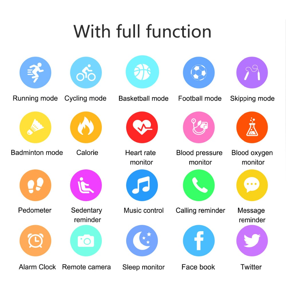 heynow smartwatch qs05 smart tracker fitness bracelet calorie