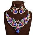 2017 Novos Conjuntos de jóias de Casamento África Completo Cisne Colar de Cristal Austríaco Brincos Para As Mulheres Conjuntos De Jóias de Noiva XN-G03